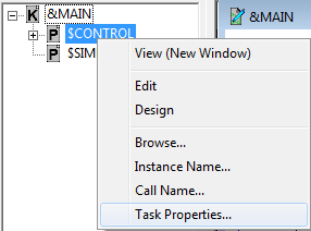 Select task properties